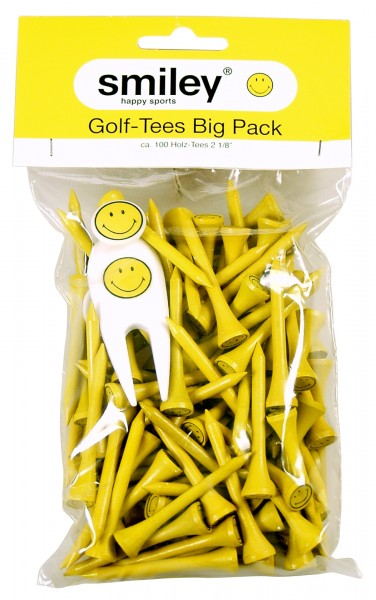 "BigPack Smiley, 2 1/8"", ca. 100 Tees"