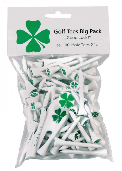 "BigPack Good Luck, 2 1/8"", ca. 100 Tees"