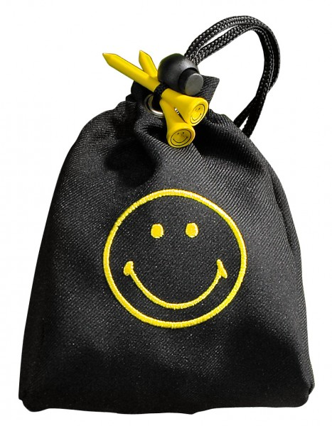 Tee-Bag Smiley, Golfball, Tees, Pitchgabel, Ballmarker