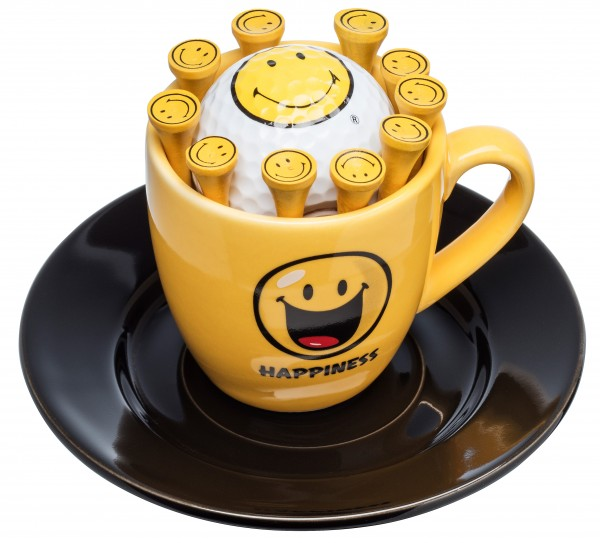 Espressotasse Smiley mit 1 Ball & Tees