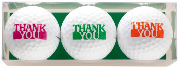 Thank You - 3 Golfbälle